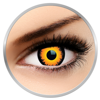 MaxVue Vision Crazy Orange Werewolf - Orange Colored Contact Lenses - 360 wears (2 lenses / box)