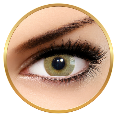 Solotica Hidrocor Ocre - Brown Colored Contact Lenses Monthly - 30 wears (2 lenses/box)