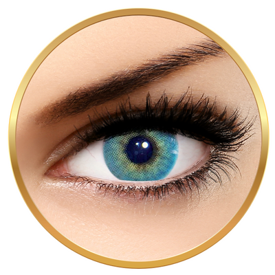 Solotica Hidrocor Topazio - Blue Colored Contact Lenses Monthly - 30 wears (2 lenses/box)