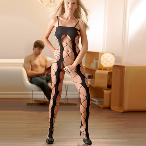 Buy Cottelli Collection Netted Catsuit for only 15.99 and always with discreet shipping | LoveMyToy.co.uk
