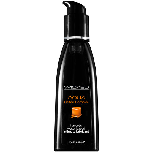 Buy Wicked Aqua Salted Caramel Waterbased Lubricant 120mls for only 12.99 and always with discreet shipping | LoveMyToy.co.uk