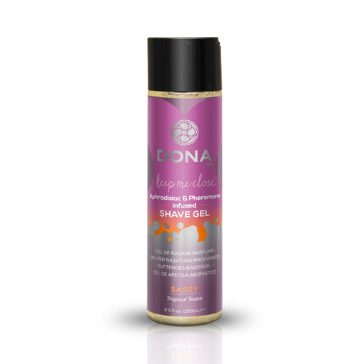 Buy DONA Shave Gel Sassy Tropical Tease 250ml for only 8.99 and always with discreet shipping | LoveMyToy.co.uk
