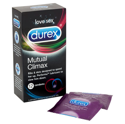 Buy Durex Mutual Climax 12 Pack Condoms for only 13.99 and always with discreet shipping | LoveMyToy.co.uk