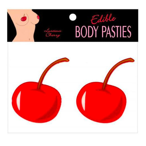 Buy Edible Luscious Cherry Flavour Body Pasties for only 5.99 and always with discreet shipping | LoveMyToy.co.uk