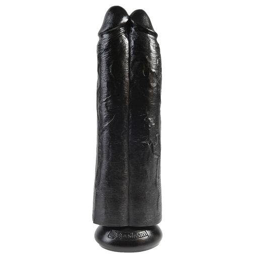 Buy King Cock 11 Inch Black Two Cocks One Hole Hollow Strap-On for only 78.99 and always with discreet shipping | LoveMyToy.co.uk