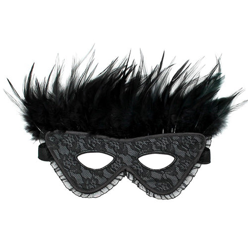 Satin Look Feather Mask