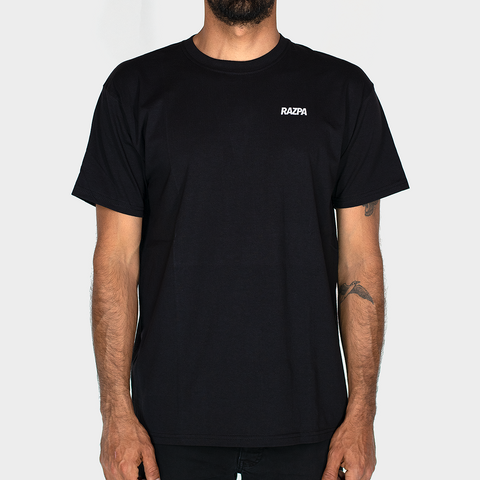 RAZPA SMALL LOGO BLACK T-SHIRT