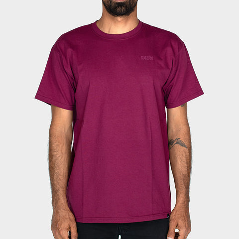 RAZPA SMALL LOGO BORDEAUX T-SHIRT