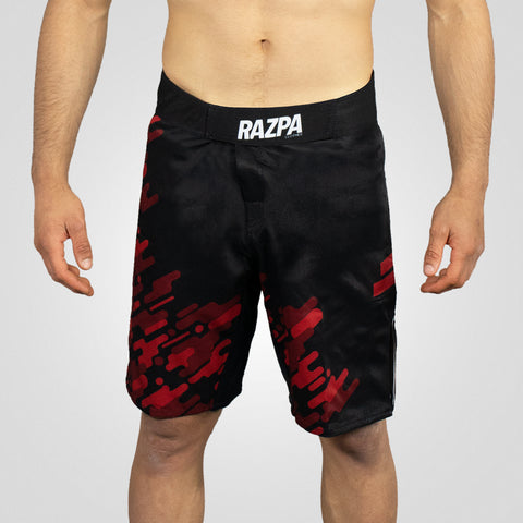 MMA SHORTS RED CAMO