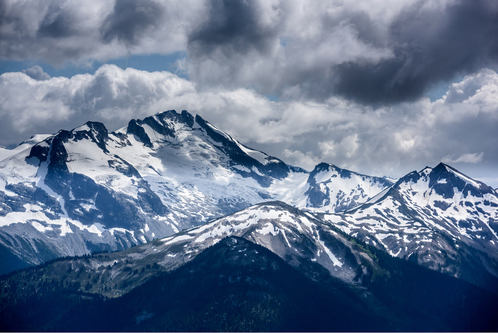 Snowy mountains in Whistler, Canada