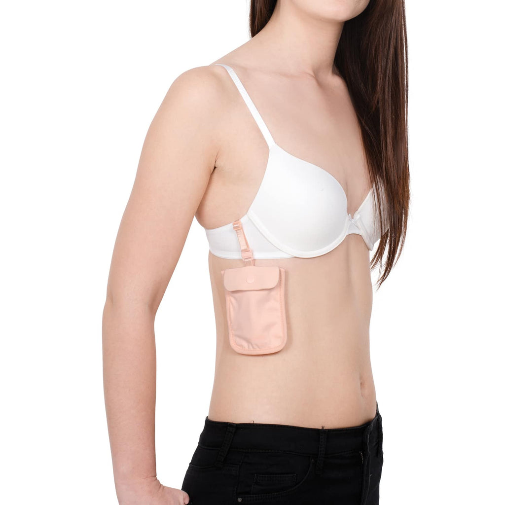 Coversafe S25 Secret Travel Bra Pouch, Orchid Pink