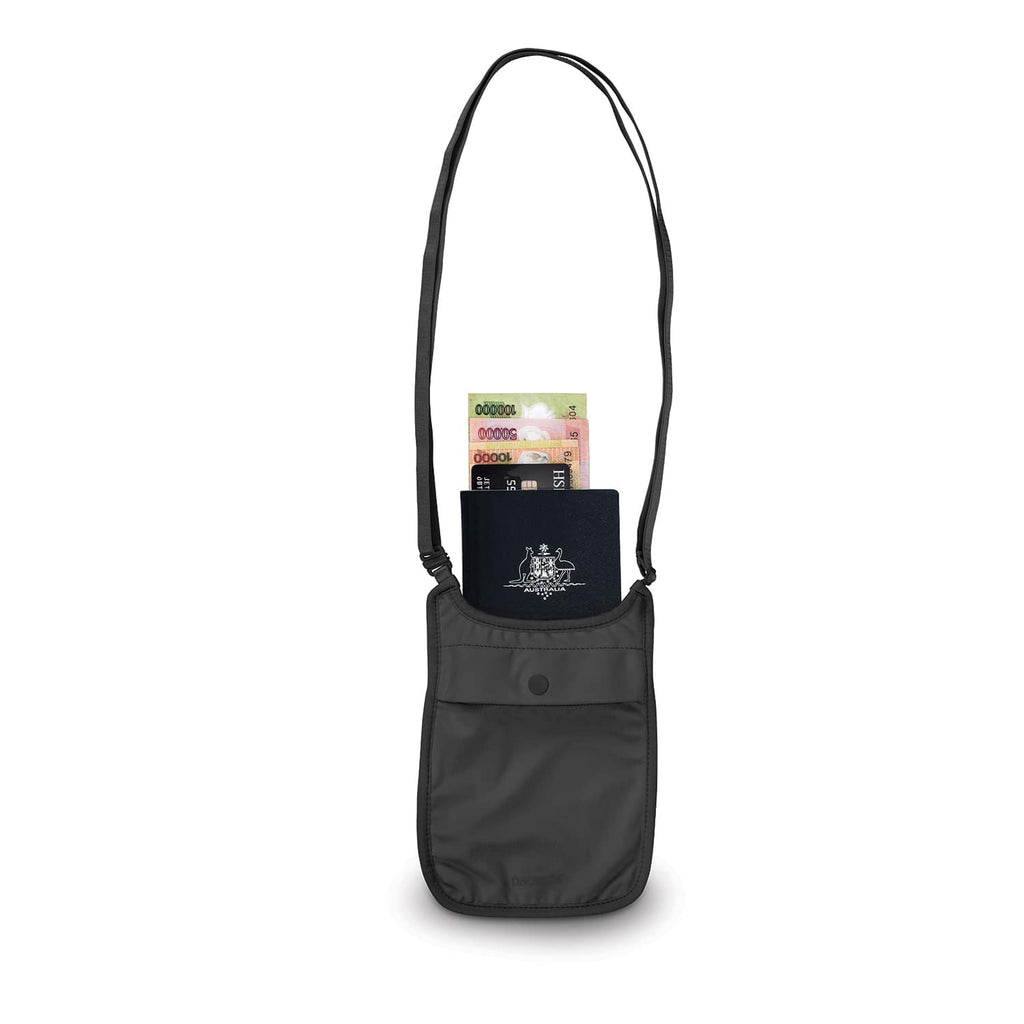 Coversafe S75 Secret Travel Neck Pouch, Black
