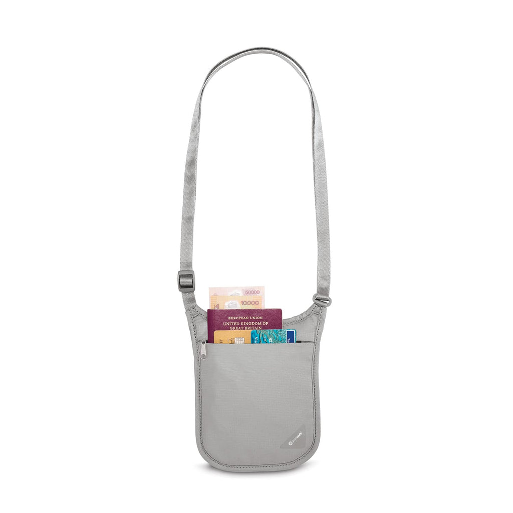 Coversafe V75 RFID Blocking Neck Pouch, Gray