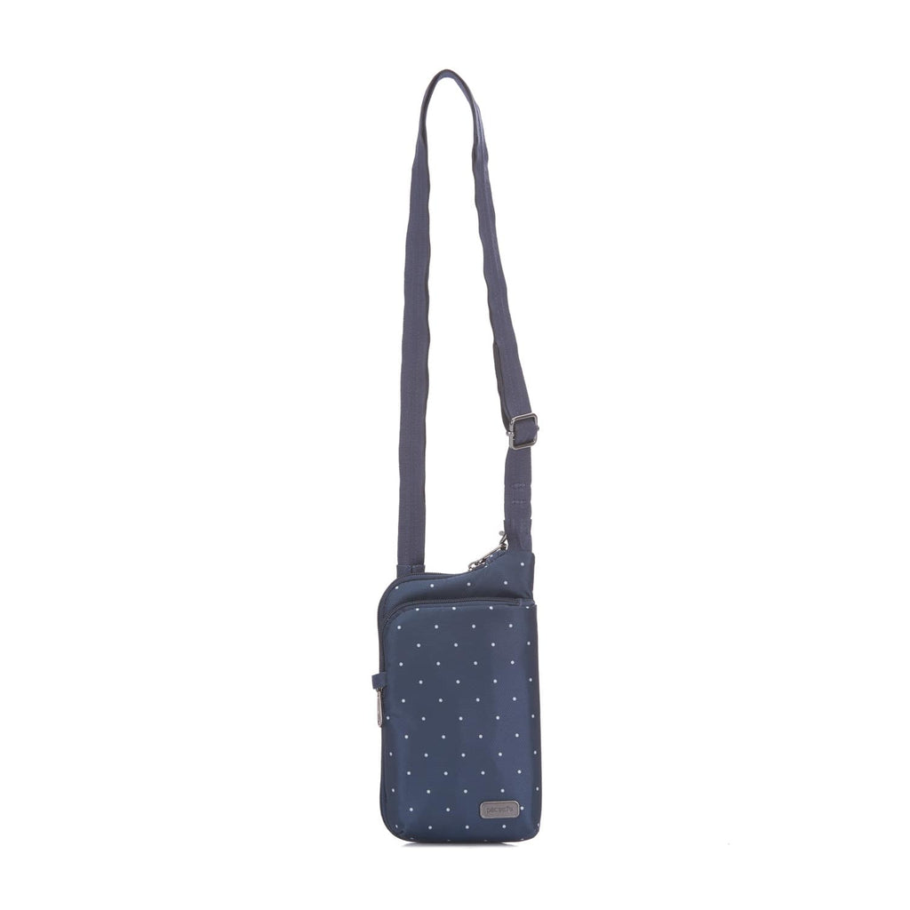 Daysafe Anti-Theft Tech Crossbody Bag, Navy Polka Dot