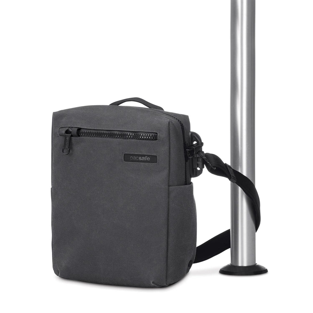 "Intasafe Anti-Theft 10"" Tablet Crossbody Bag, Charcoal"