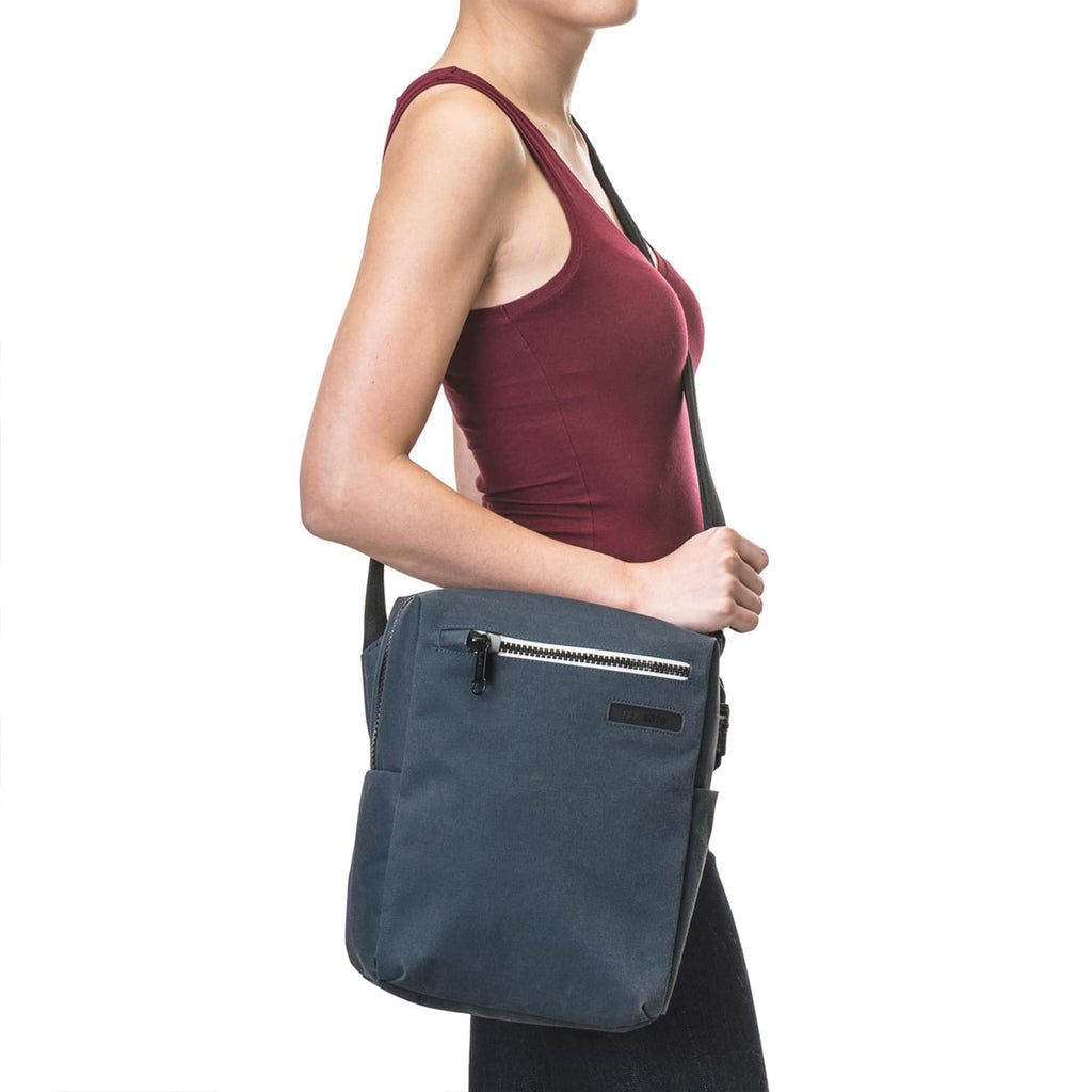 "Intasafe Anti-Theft 10"" Tablet Crossbody Bag, Navy"