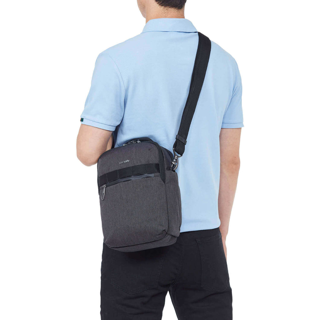 Metrosafe X Anti-Theft Vertical Crossbody Carbon