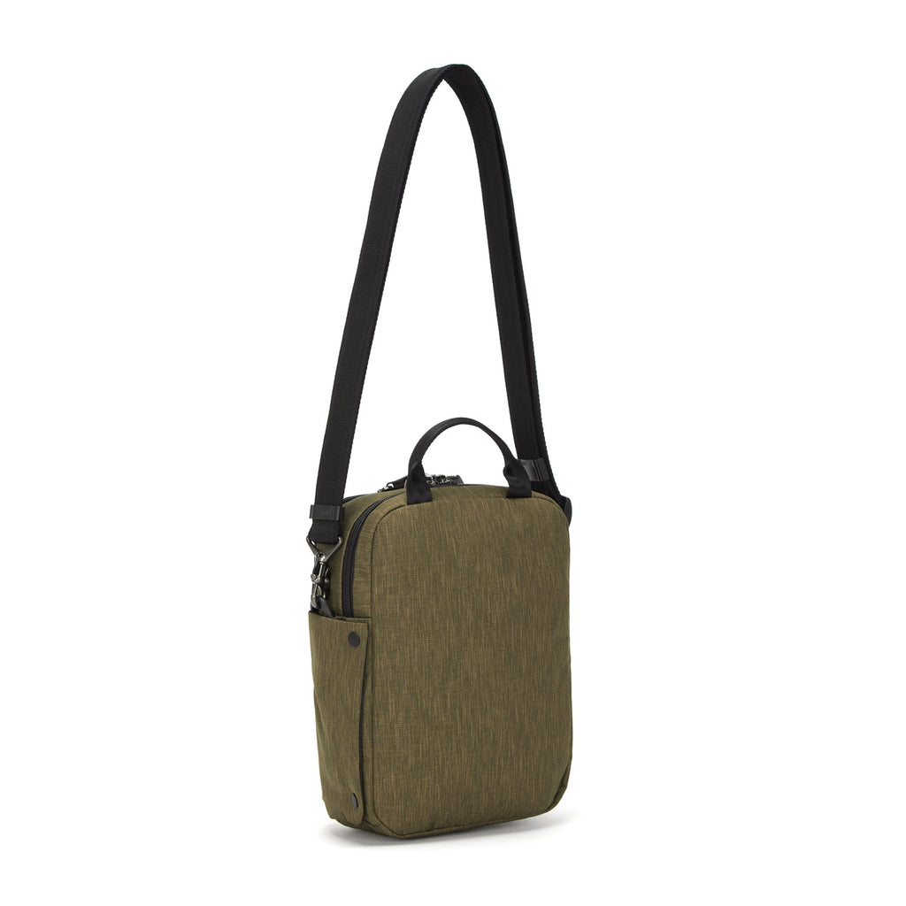 Metrosafe Anti-Theft Vertical Crossbody, Utility Green