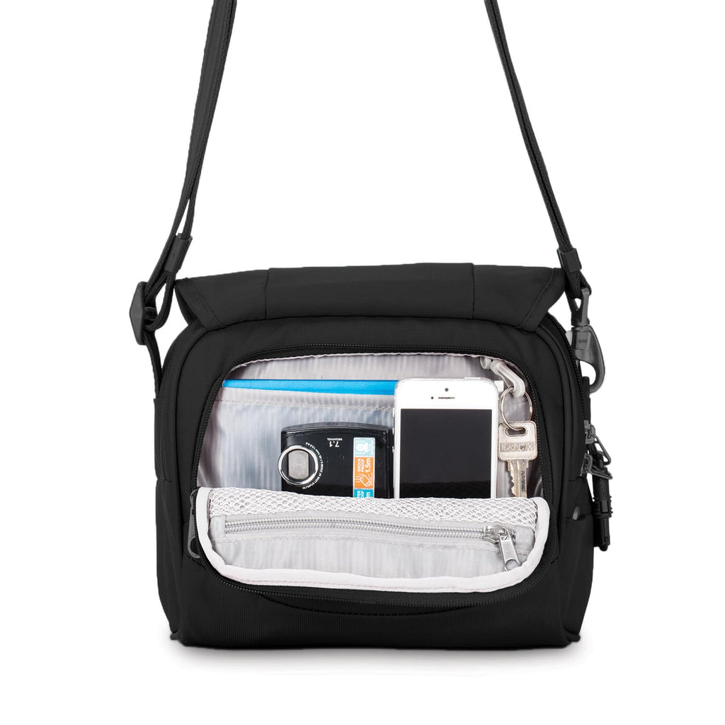 Metrosafe LS140 Anti-Theft Compact Shoulder Bag, Black