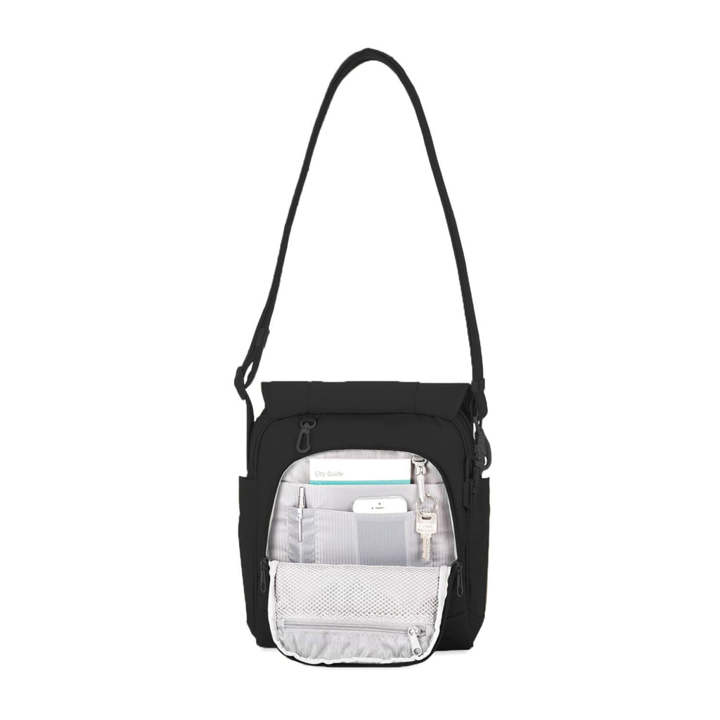 Metrosafe LS200 Anti-Theft Medium Crossbody Bag, Black