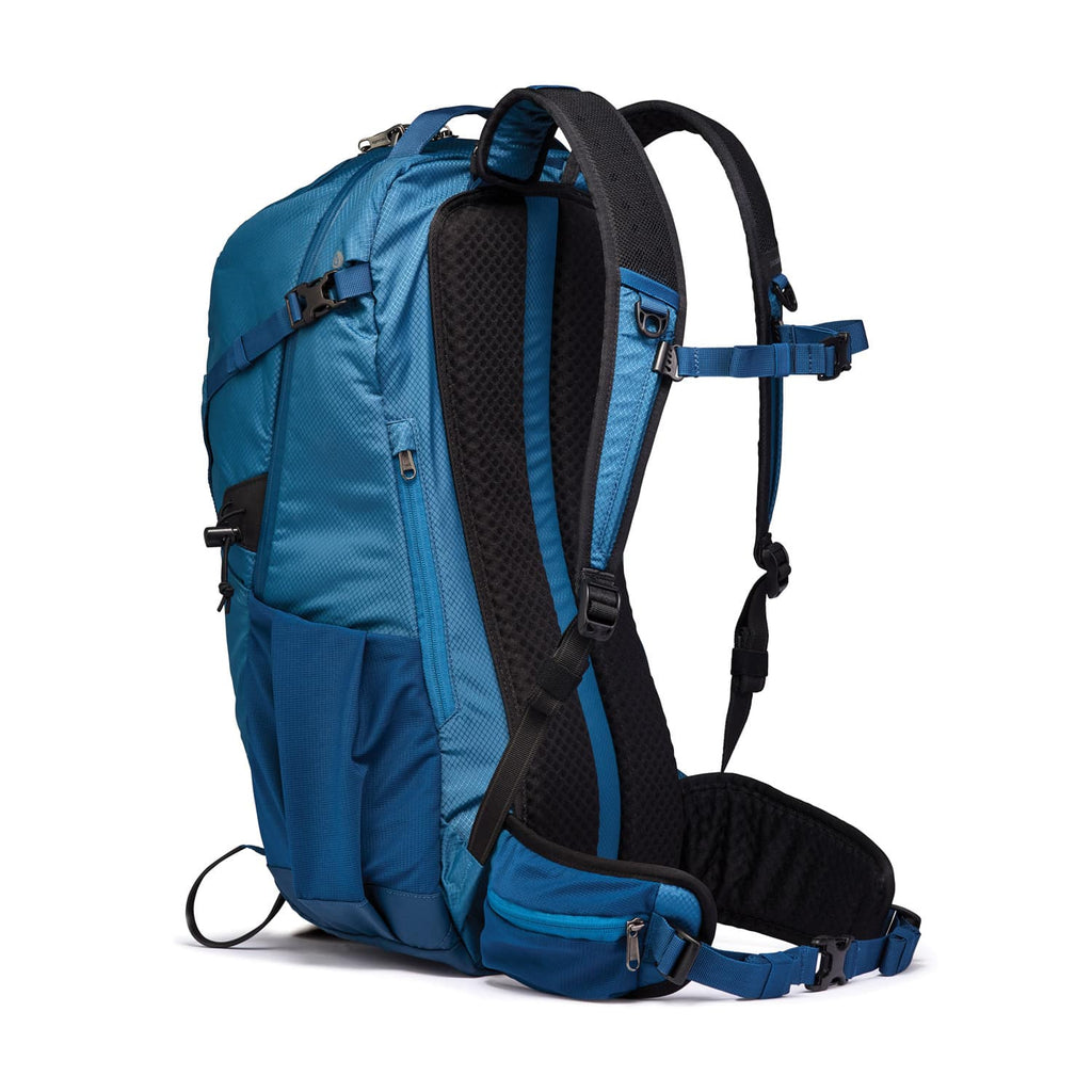 Venturesafe X34 Anti-Theft Hiking Backpack, Blue Steel