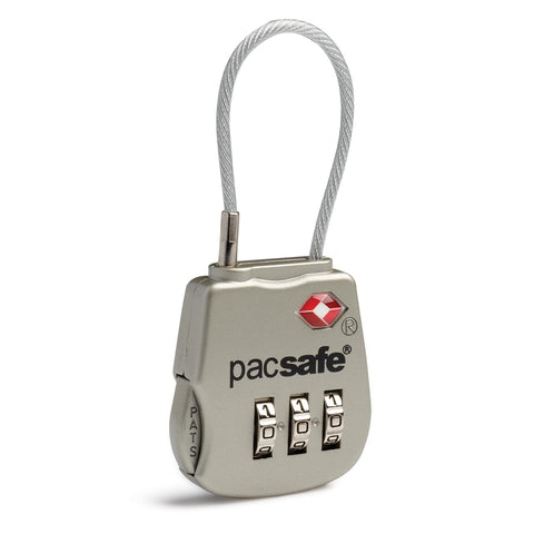 Prosafe 800 TSA Combination Cable Padlock, Silver