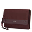 RFIDsafe RFID Blocking Clutch Wallet, Merlot