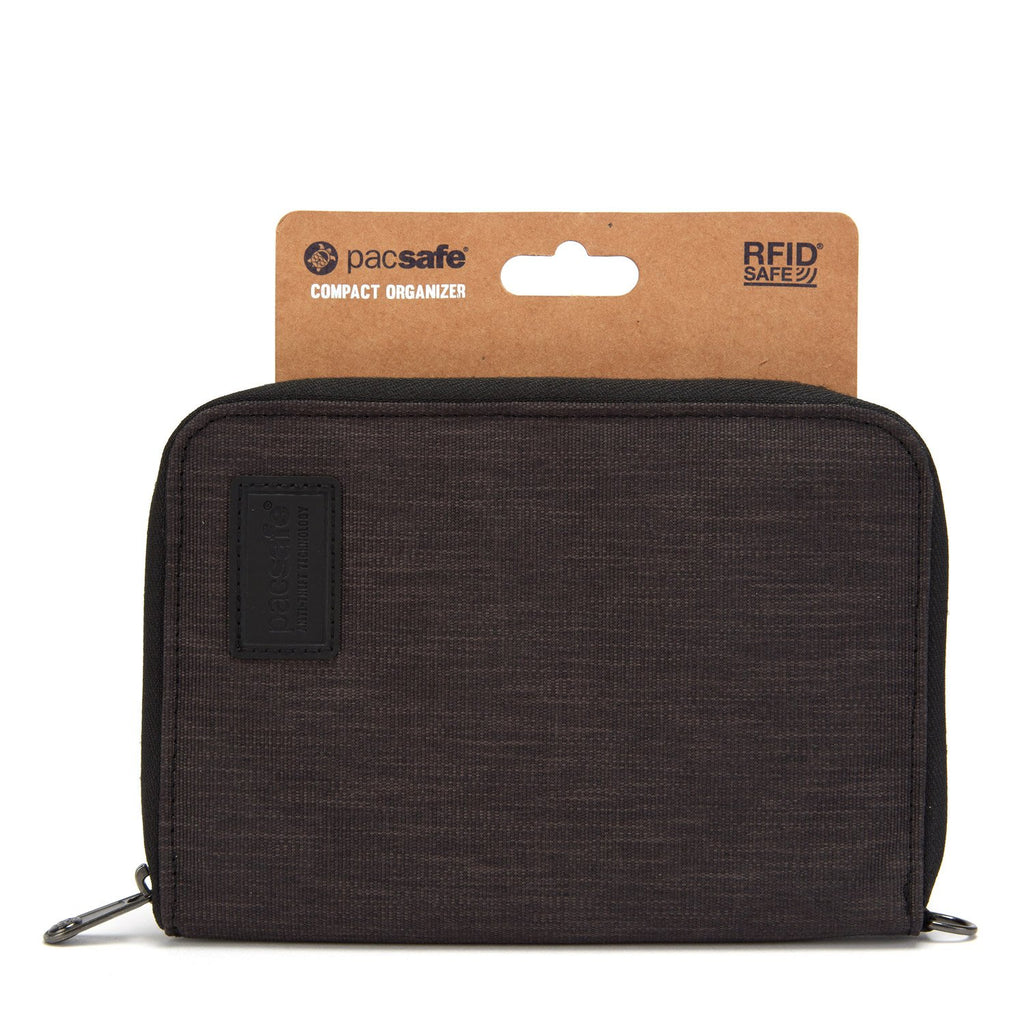 RFIDsafe RFID Blocking Compact Travel Organizer, Carbon