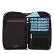 RFIDsafe RFID Blocking Compact Travel Organizer, Black