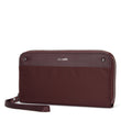 RFIDsafe RFID Blocking Continental Wallet, Merlot