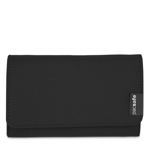 RFIDsafe LX100 RFID Blocking Wallet, Black