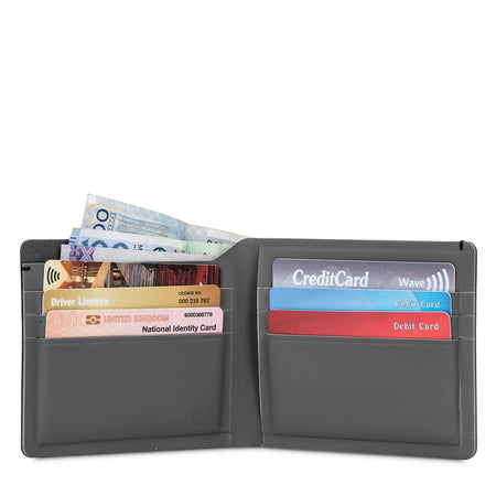 RFIDsafe TEC RFID Blocking Slim Bifold Wallet, Black