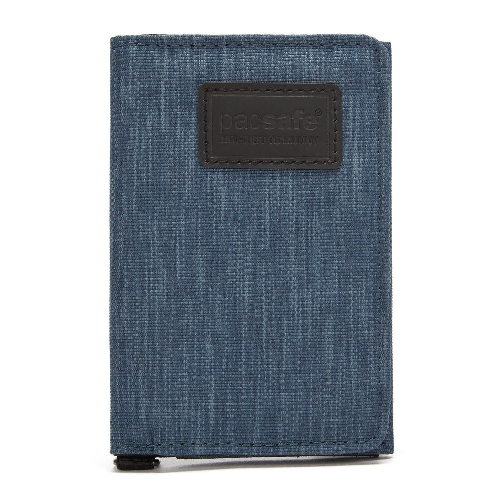 RFIDsafe RFID Blocking Trifold Wallet, Dark Denim