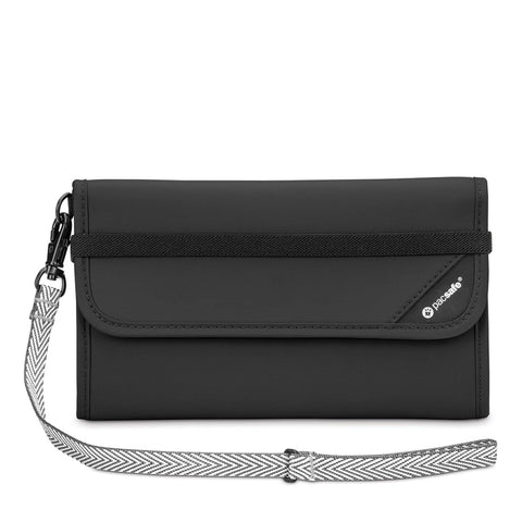 RFIDsafe V250 RFID Blocking Travel Wallet, Black