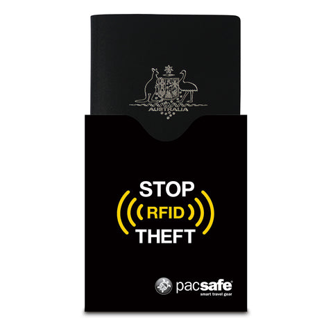 RFIDsleeve 50 RFID-Blocking Passport Protector, Black