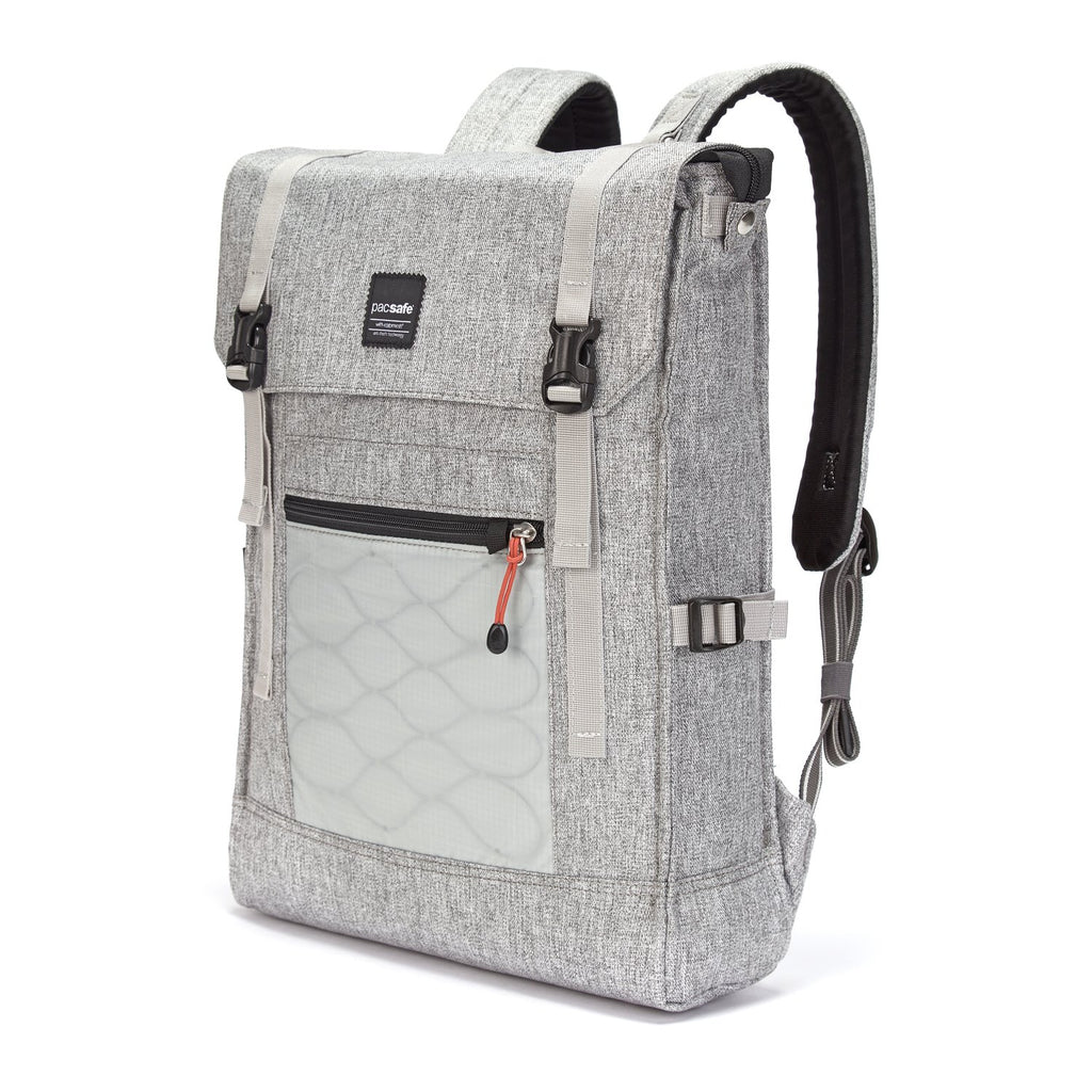 Slingsafe LX450 Anti-Theft Backpack, Tweed Gray