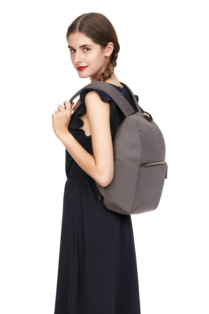 Stylesafe Anti-Theft Backpack Mocha
