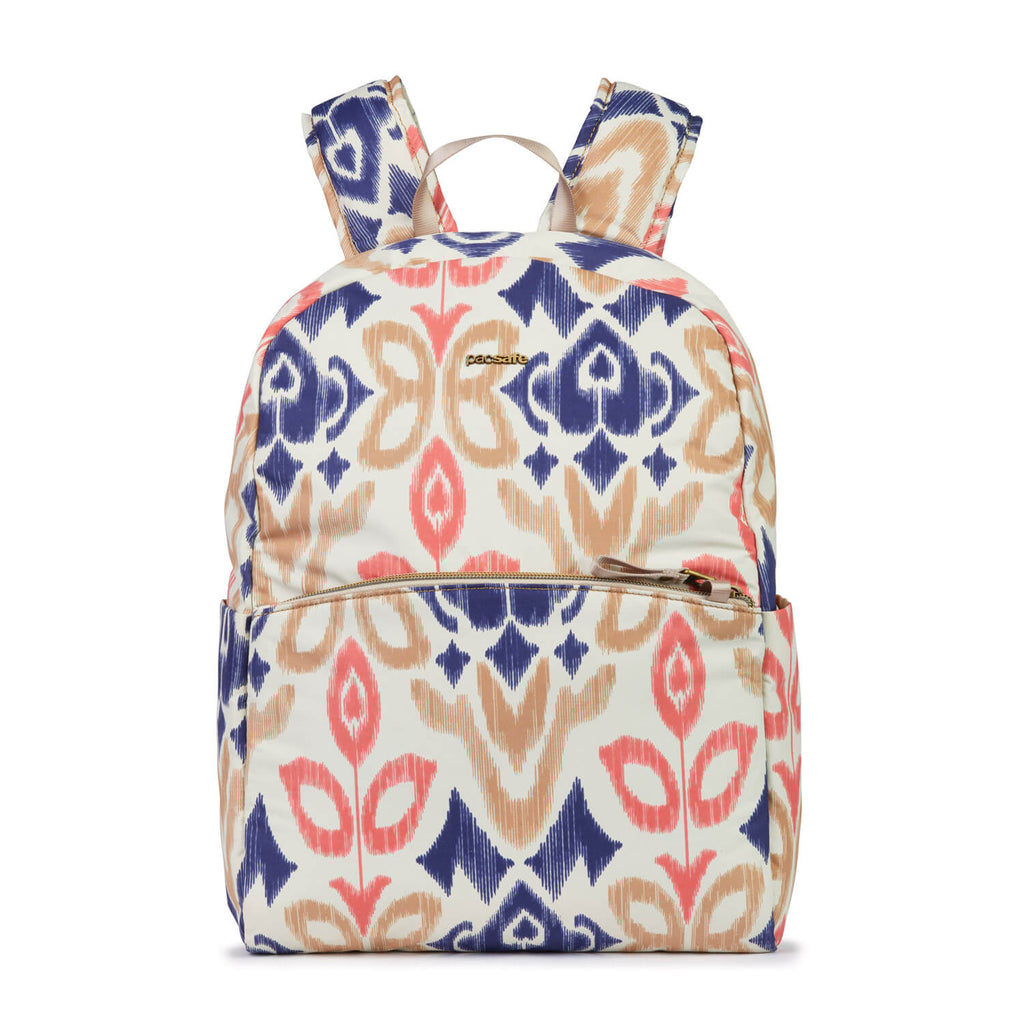 Stylesafe Anti-Theft Backpack, Ikat Coral