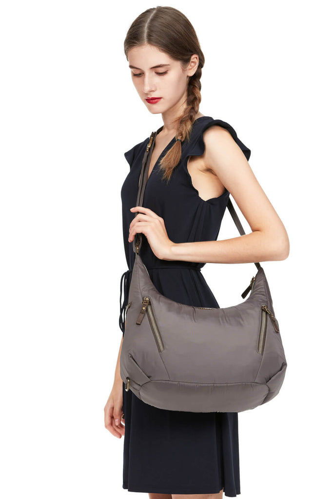Stylesafe Anti-Theft Convertible Crossbody Mocha