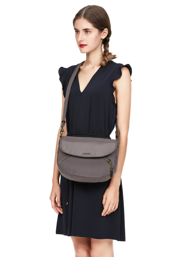 Stylesafe Anti-Theft Crossbody bag Mocha
