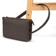 Stylesafe Anti-Theft Double Zip Crossbody Bag, Mocha