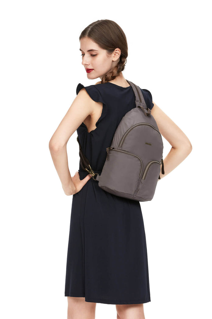 Stylesafe Anti-Theft Sling Backpack Mocha