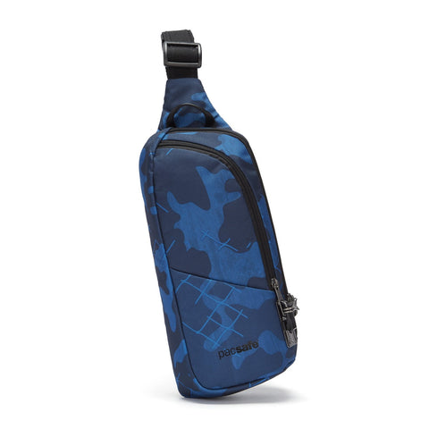 Pacsafe Vibe 150 Anti-Theft Sling Pack, Blue Camo