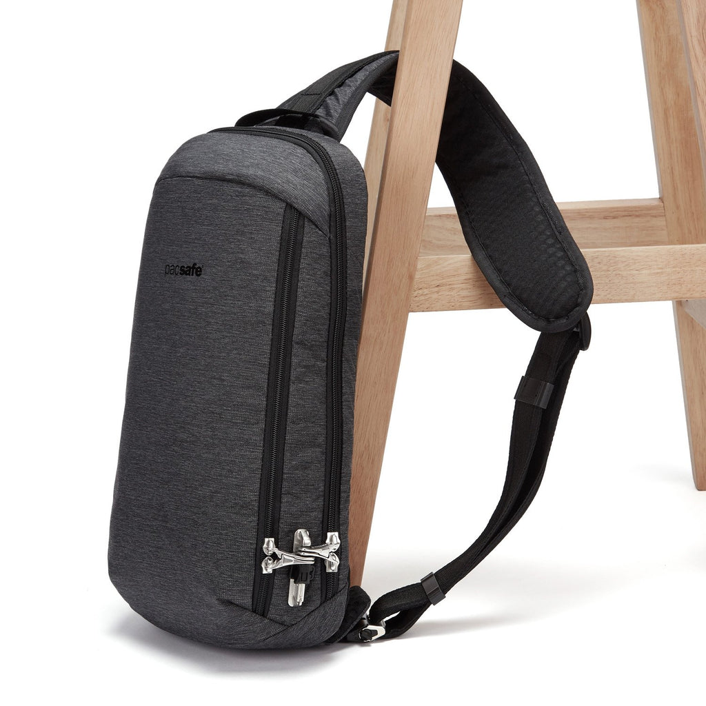Vibe 325 Anti-Theft Sling Pack, Granite Melange Gray