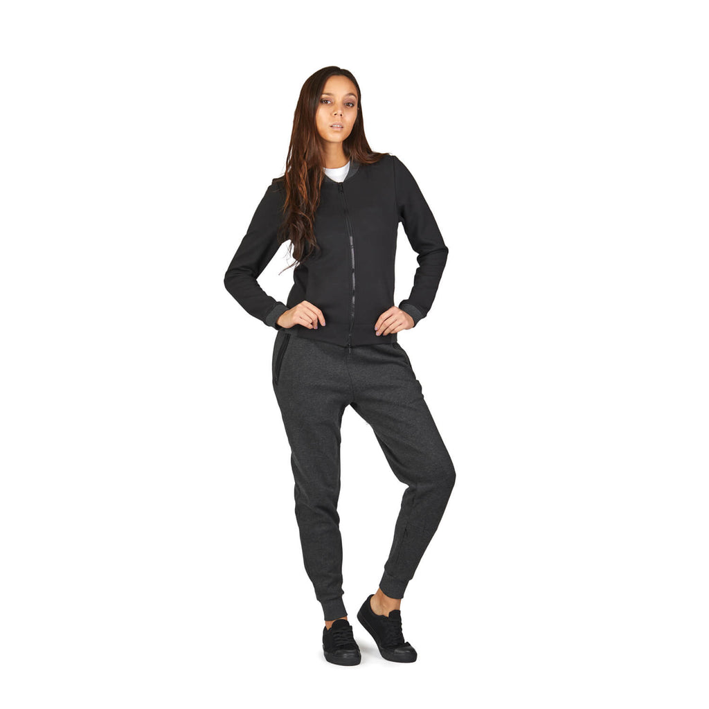 Transit RFID Women's Multi Pocket Travel Jacket, Black
