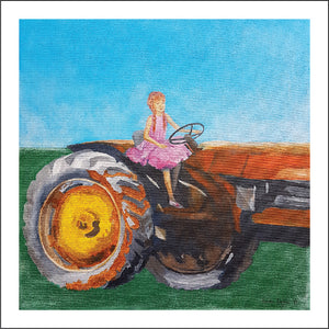 Farmer's Daughter, Gift Card with a painting by Beata Dagiel