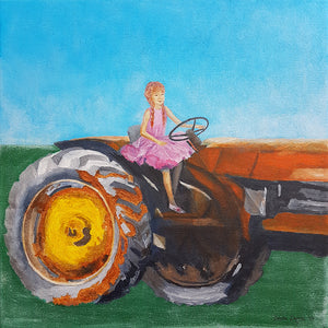 Farmers Daughter, Painting on Canvas by Beata Dagiel