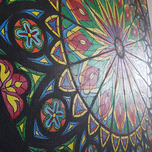 Glory To The Light, Rose Window Painting by Beata Dagiel