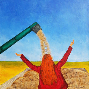 Harvest Day, Fine Art Print of an Original Painting by Beata Dagiel