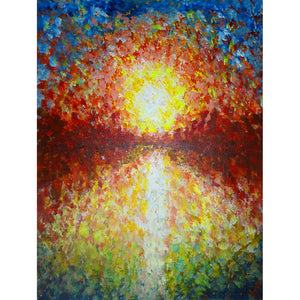 Reflection, Fine art Print from an original painting by Beata Dagiel